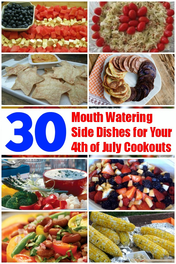 30 Mouth Watering Side Dishes for Your 4th of July Cookouts