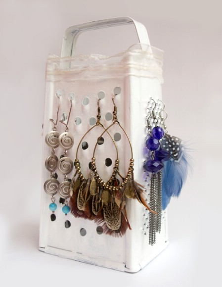 Cheese Grater Earring Display