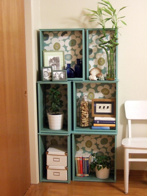 Salvaged Drawer Modular Bookshelf