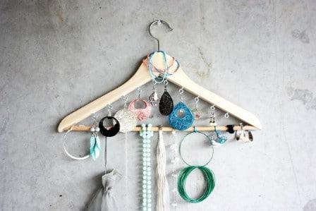 Coat Hanger Jewelry Holder