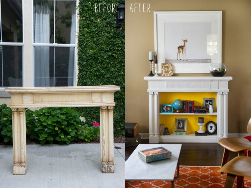 DIY Mantel Bookshelf