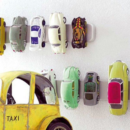 Magnetic Toy Car Holders