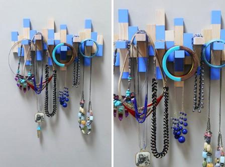 Jenga Necklace Rack