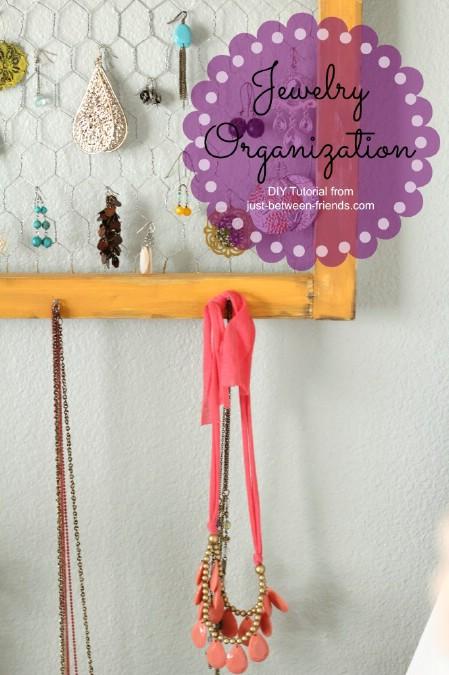 Framed Chicken Wire Jewelry Hanger
