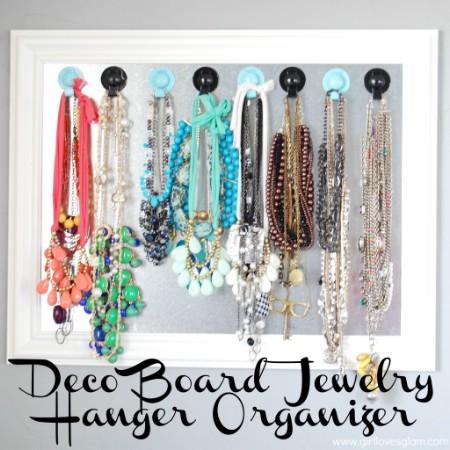 Deco Board Jewelry Hanger
