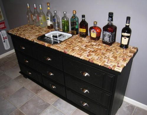 Wine Cork Topped Dresser