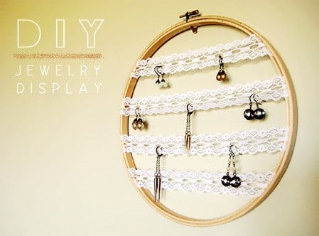 Embroidery Hoop Earring Display