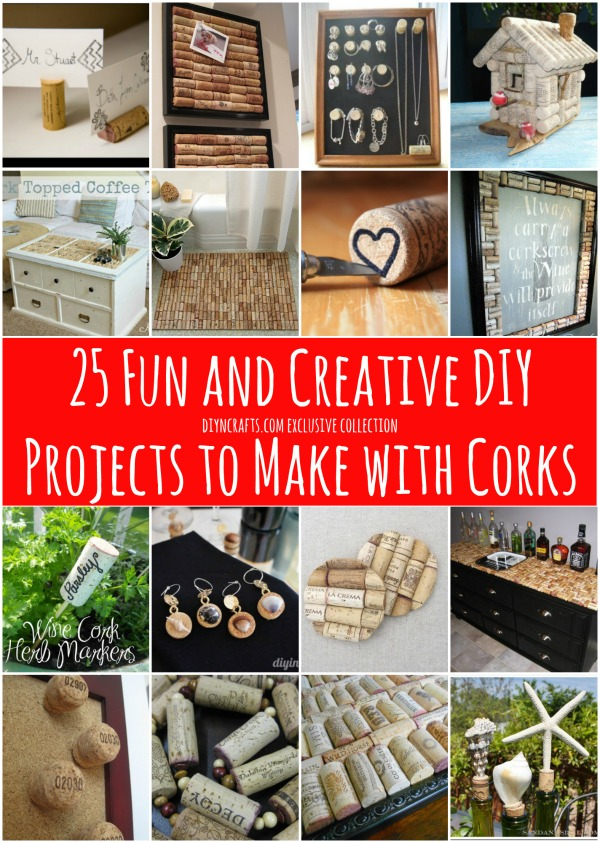 25 Fun and Creative DIY Projects to Make with Corks