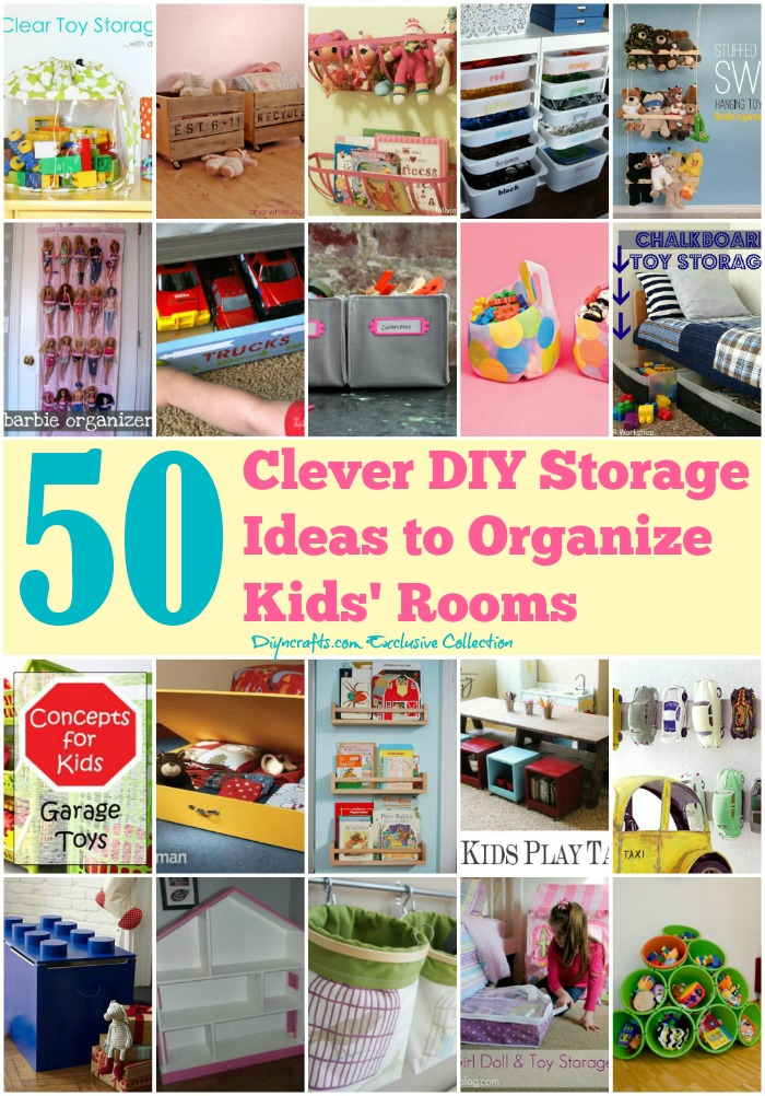 50 Clever Diy Storage Ideas To Organize Kids Rooms