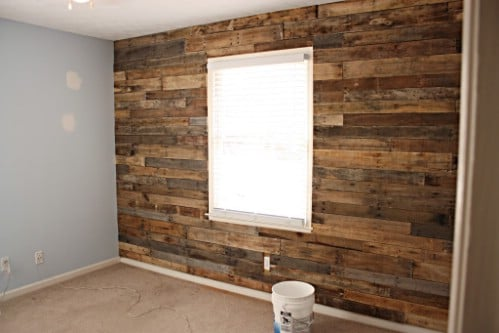 Beautiful Planked Nursery Wall