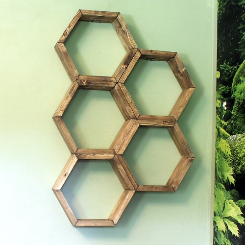 DIY Honeycomb Shelves