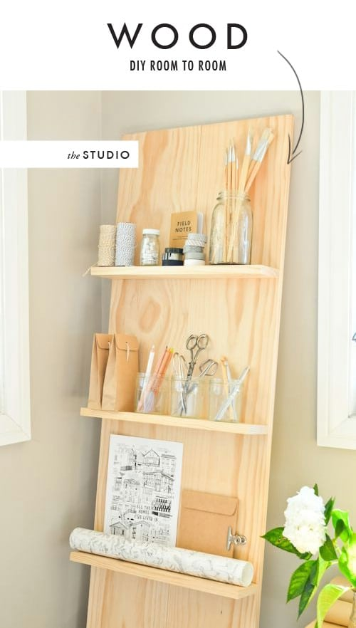 Simple Wood Bathroom Shelf