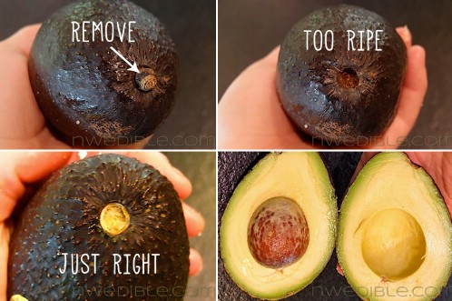 How to tell if an avocado is too ripe.