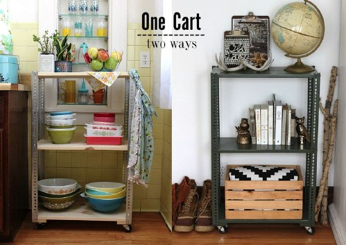 Easy Kitchen Shelving Cart
