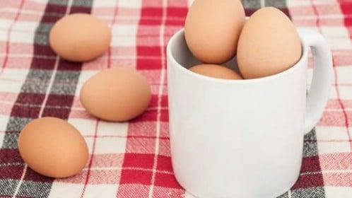 Cook an egg in a mug.