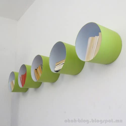 Paint Bucket Shelves