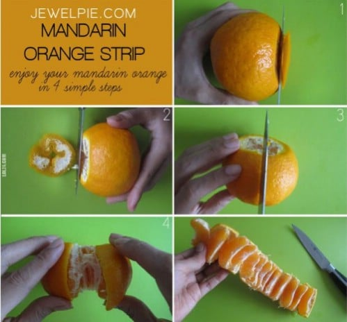 Peel an orange with ease.