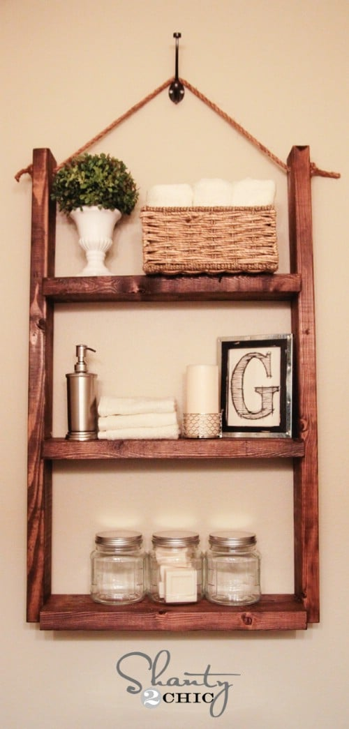 $10 Hanging Bathroom Shelf