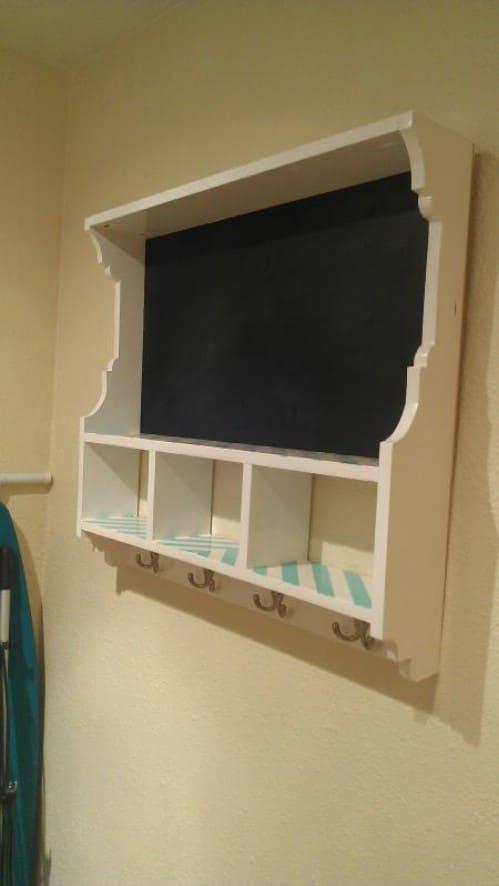 Chalkboard Cubby Shelf