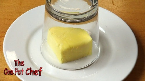 Soften butter in minutes.