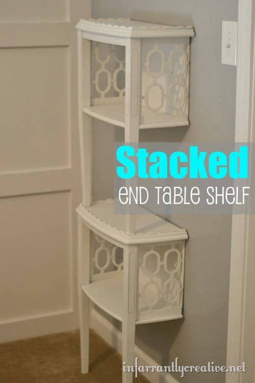 Stacked End Table Shelf