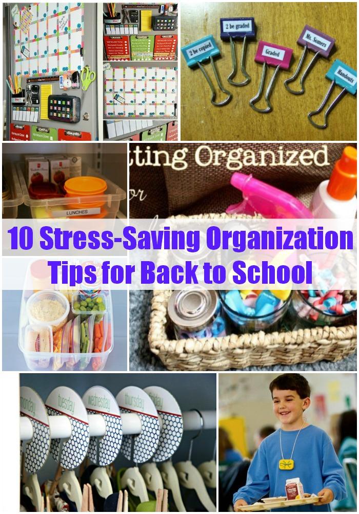 10 Stress-Saving Organization Tips for Back to School