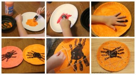Kids' Crafty Spiders