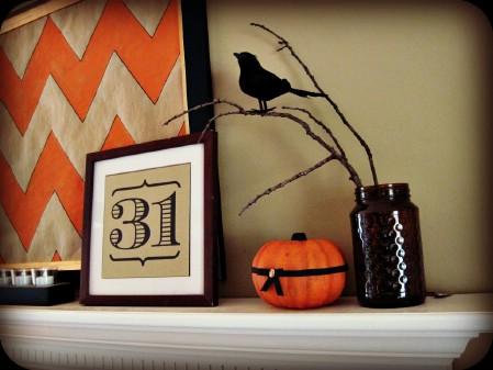 Halloween Mantel Scene