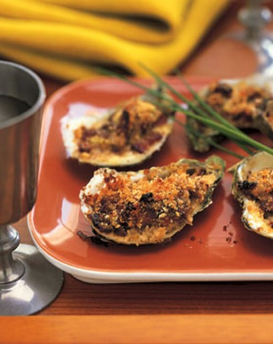 Baked Oyster with Bacon and Leeks