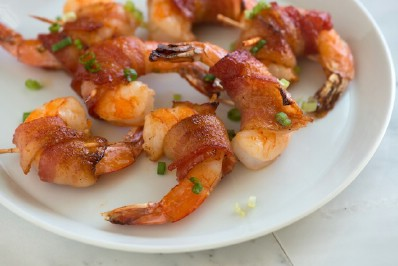 Spicy Mable Bacon Wrapped Shrimp