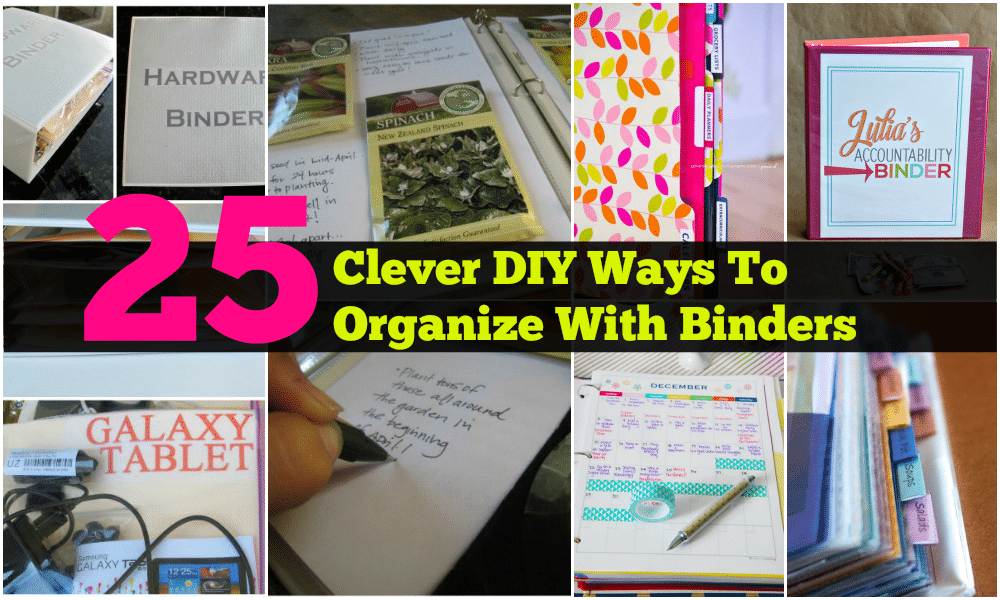 25 Clever Diy Ways To Organize With Binders Diy Amp Crafts