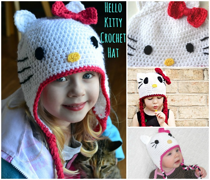 FREE Crochet Pattern: Gorgeous Hello Kitty Hat