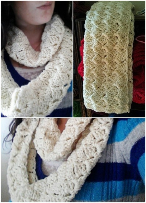 Crazy shell infinity scarf