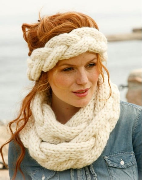 Braided infinity scarf and head band