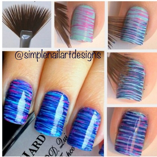 Thin Stripy Nails