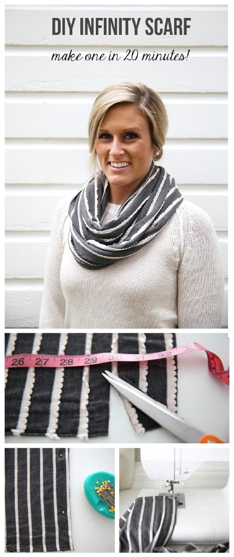 Cute and easy 20-minute infinity scarf