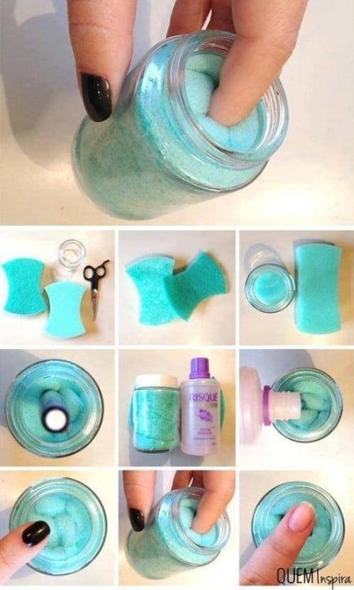 Nail Polish Remover Jar