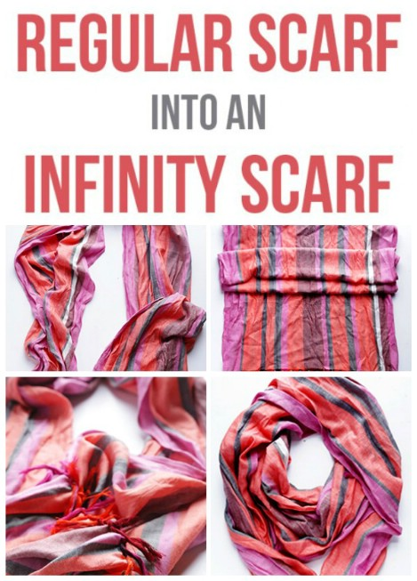 Convert your regular scarf into an infinity scarf