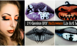 14 Genius DIY Halloween Lip Art Ideas