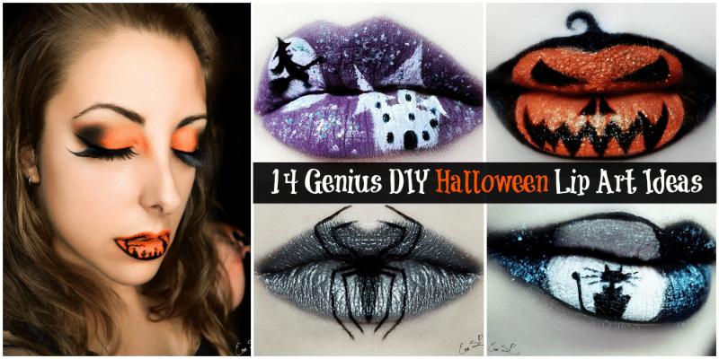 14 Genius Diy Halloween Lip Art Ideas Diy Crafts