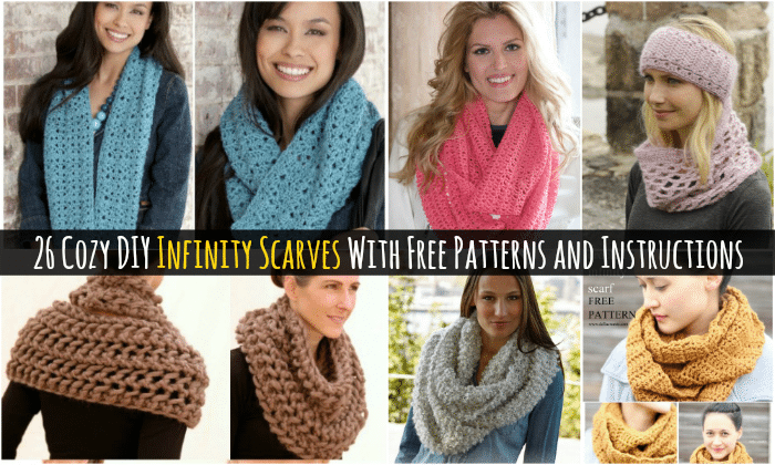 26 Cozy Diy Infinity Scarves With Free Patterns And Instructions
