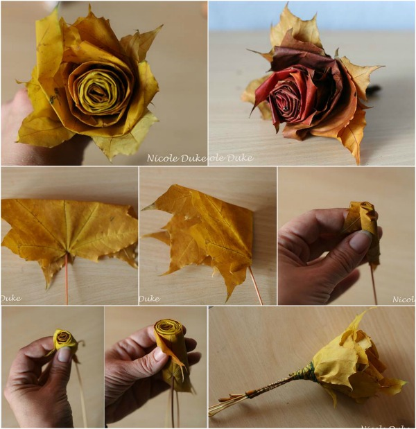 Creative DIY Maple Leaf Roses in 6 Easy Steps