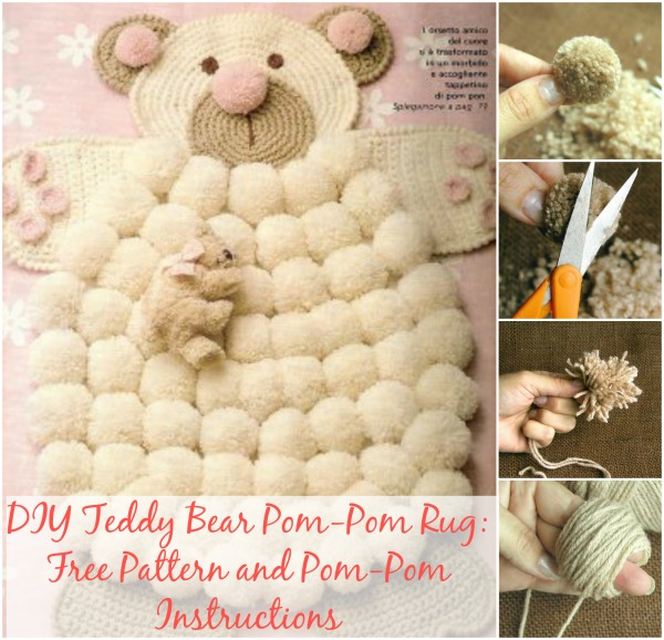 Cute Diy Teddy Bear Pom Rug
