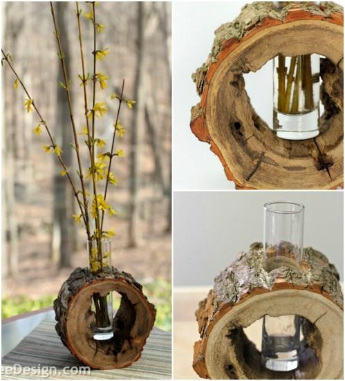 Log Slice Vase