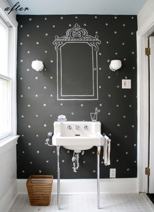 Chalk your walls as a substitute for wallpaper.