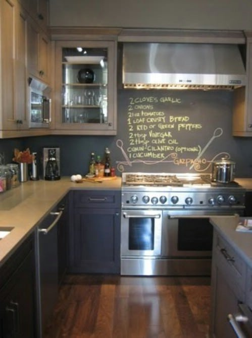 Copy a recipe onto your kitchen wall.