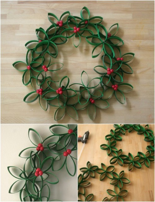 Toilet Roll Wreath