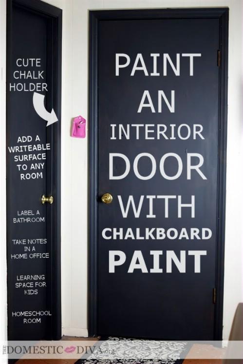Paint a door.
