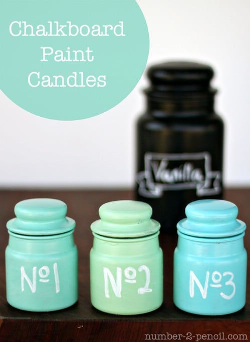 Personalize candles as gifts.