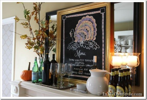 Get seasonal with chalkboard art.